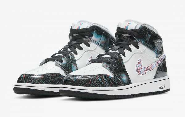 "BQ6931-114 Air Jordan 1 Mid SE GS ""Take Flight"" Shoes"