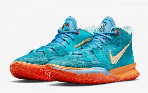 2021 Classic Concepts x Nike Kyrie 7 Teal Blue Basketball Shoes CT1137-900