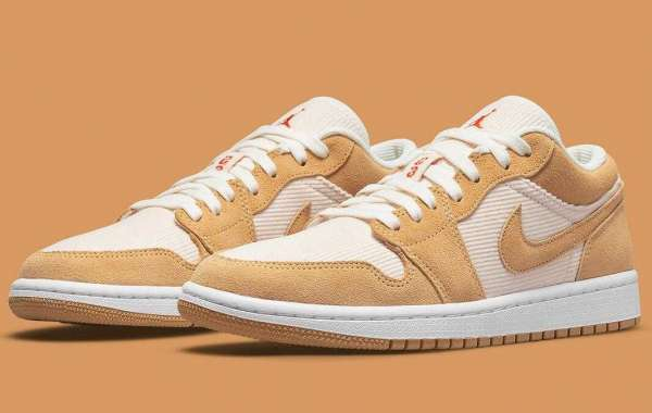 Latest Air Jordan 1 Low Get Tan Suedes And Corduroy Cover