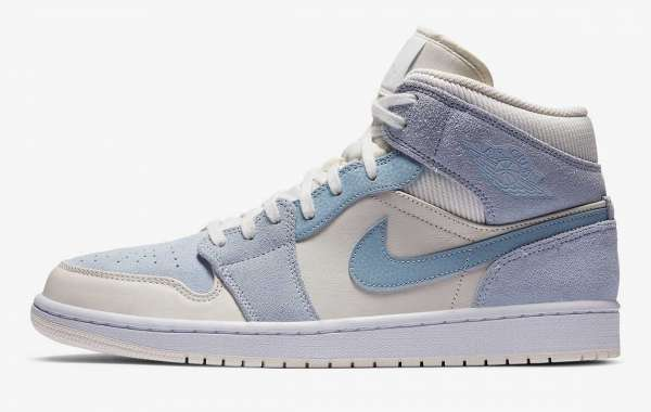 "Most Popular Air Jordan 1 Mid SE ""Light Blue"" For Sale"